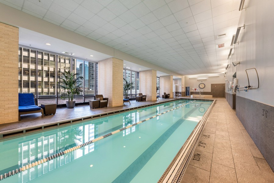 Real Estate Photography - 225 N Columbus Ave, Unit 7807, Chicago, IL, 60601 - Indoor Pool