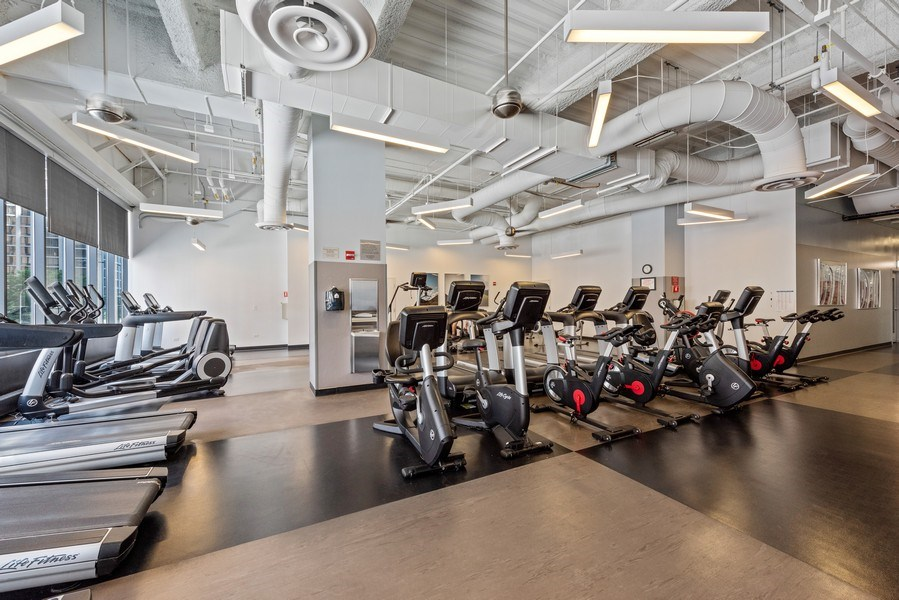 Real Estate Photography - 225 N Columbus Ave, Unit 7807, Chicago, IL, 60601 - Fitness Room