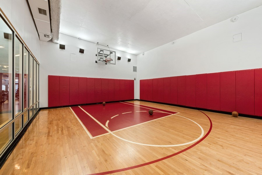 Real Estate Photography - 225 N Columbus Ave, Unit 7807, Chicago, IL, 60601 - Basketball Court