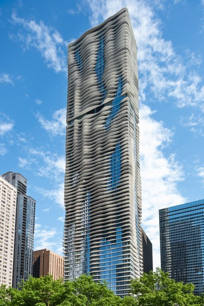 Real Estate Photography - 225 N Columbus Ave, Unit 7807, Chicago, IL, 60601 - Front View