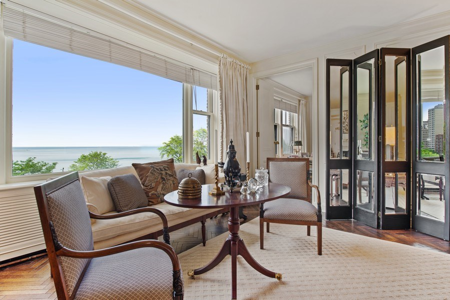 Real Estate Photography - 179 East Lake Shore Drive, Apartment 601, Chicago, IL, 60611 - Living Room