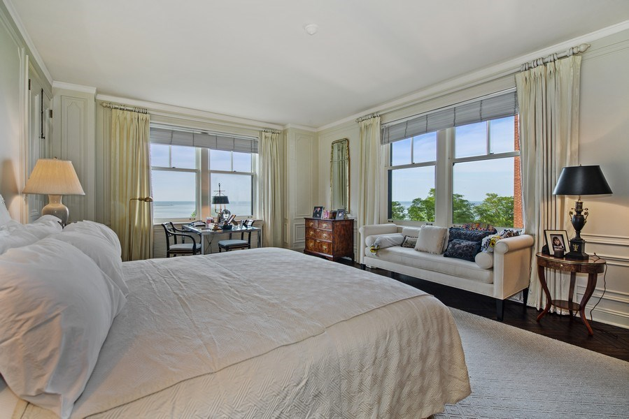 Real Estate Photography - 179 East Lake Shore Drive, Apartment 601, Chicago, IL, 60611 - Master Bedroom