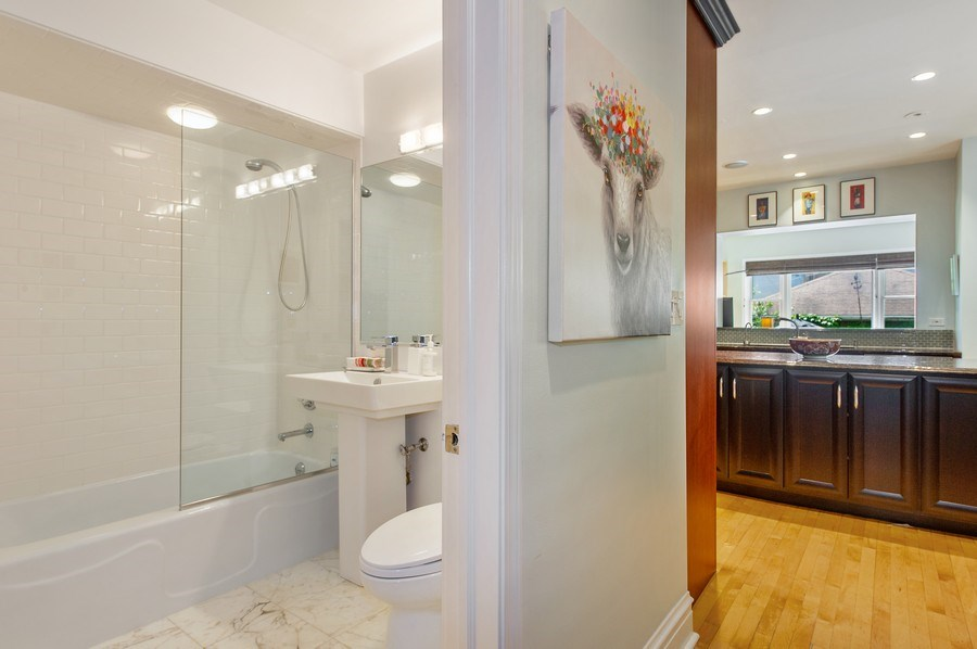 Real Estate Photography - 2039 W Cullom, Chicago, IL, 60618 - 3rd Bathroom