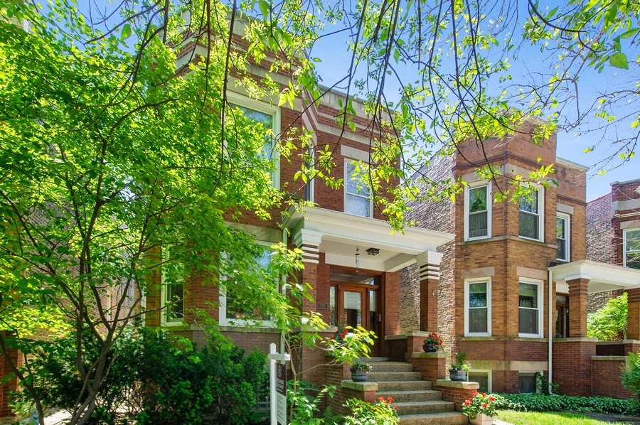 Real Estate Photography - 2039 W Cullom, Chicago, IL, 60618 - Front View