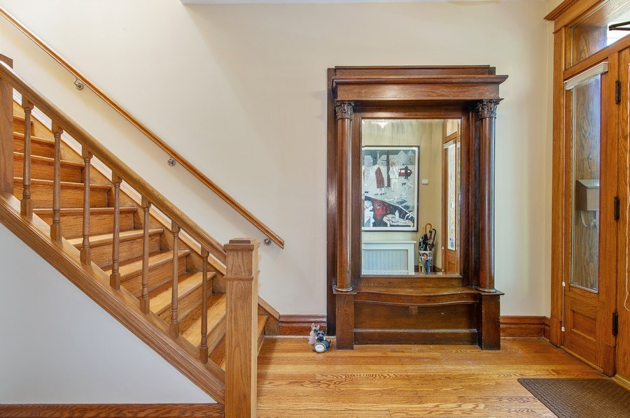 Real Estate Photography - 2039 W Cullom, Chicago, IL, 60618 - Foyer