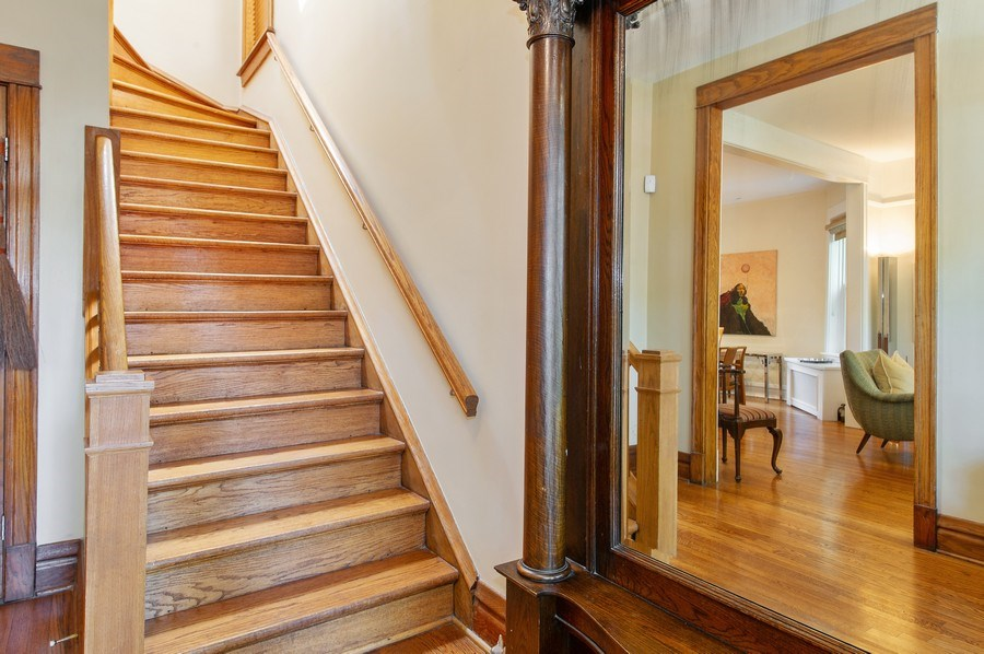 Real Estate Photography - 2039 W Cullom, Chicago, IL, 60618 - Staircase