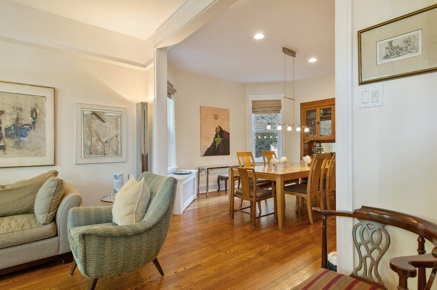 Real Estate Photography - 2039 W Cullom, Chicago, IL, 60618 - Living Room / Dining Room