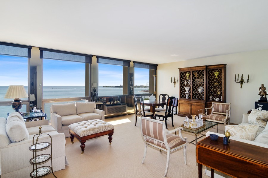 Real Estate Photography - 1240 N Lake Shore Drive, Unit 9B, Chicago, IL, 60610 - Living Room
