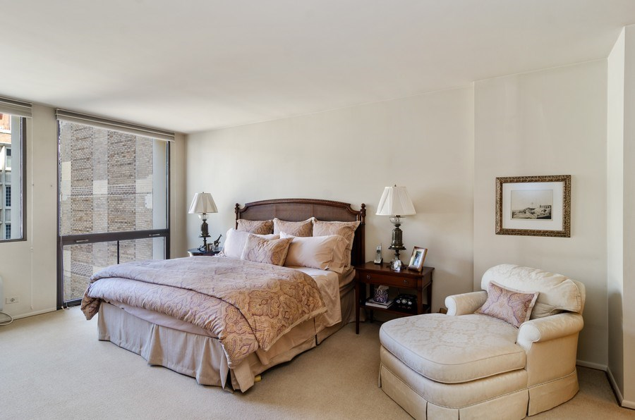 Real Estate Photography - 1240 N Lake Shore Drive, Unit 9B, Chicago, IL, 60610 - Master Bedroom