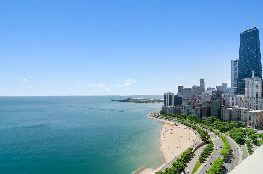 Real Estate Photography - 1240 N Lake Shore Drive, Unit 9B, Chicago, IL, 60610 - Roof Deck
