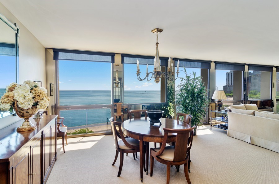 Real Estate Photography - 1240 N Lake Shore Drive, Unit 9B, Chicago, IL, 60610 - Dining Room