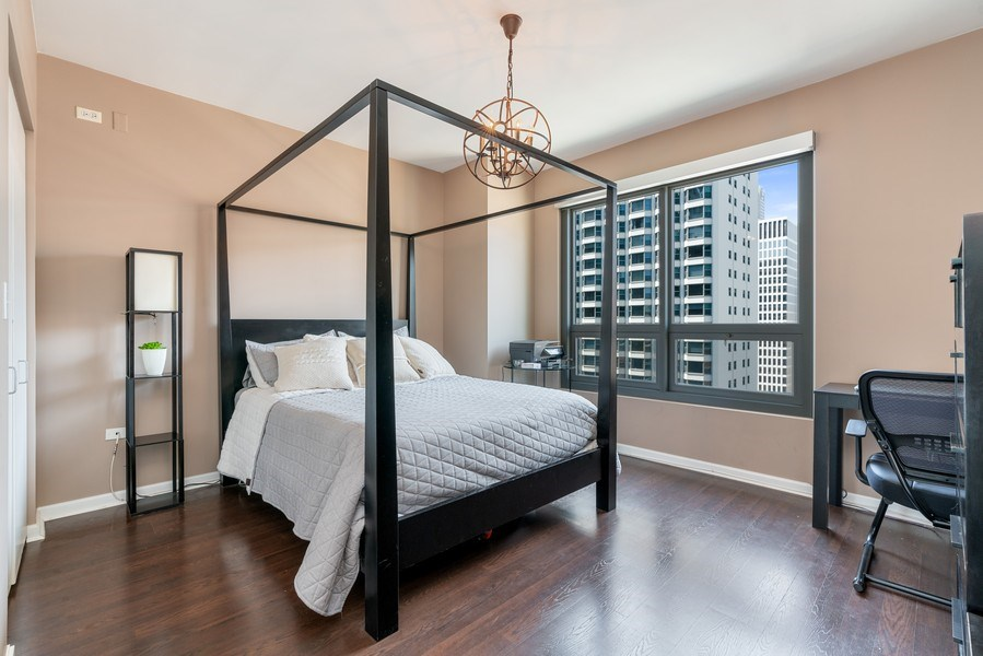 Real Estate Photography - 160 E Illinois, 1806, Chicago, IL, 60611 - 2nd Bedroom