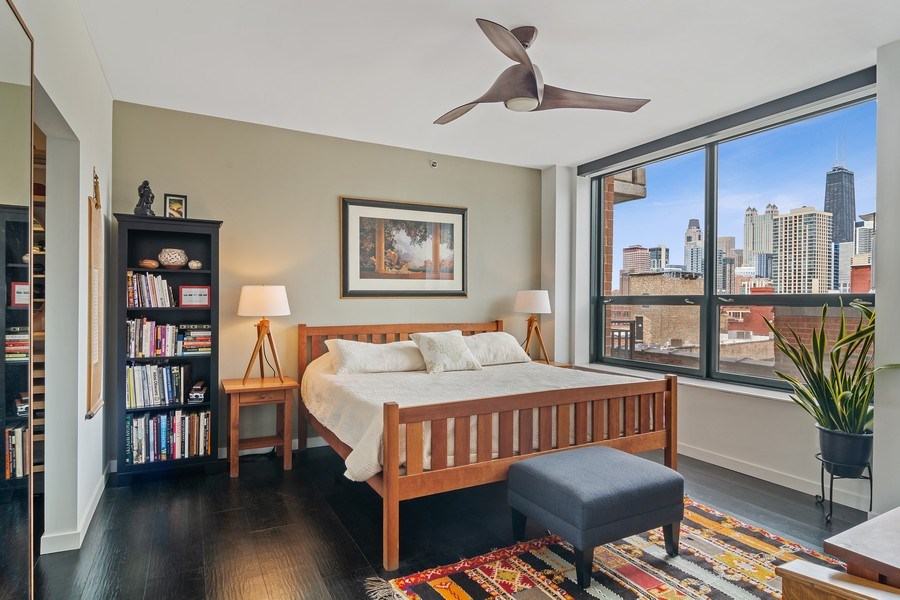 Real Estate Photography - 400 West Ontario, Unit 905, Chicago, IL, 60654 - Master Bedroom