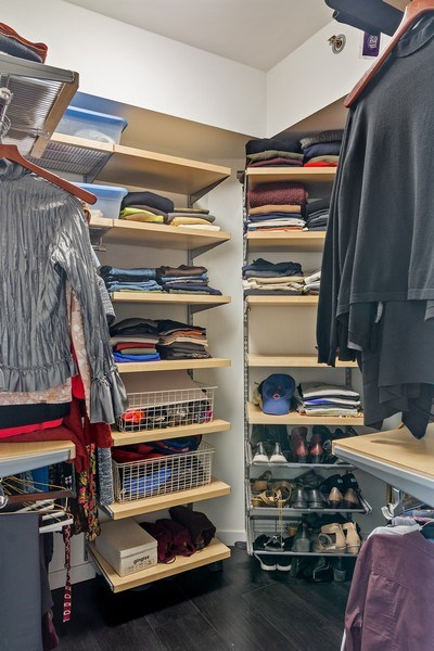 Real Estate Photography - 400 West Ontario, Unit 905, Chicago, IL, 60654 - Master Bedroom Closet