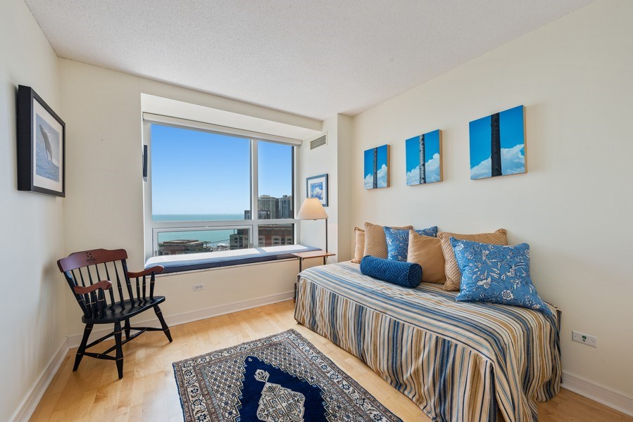 Real Estate Photography - 512 N MCclurg Ct, 3807-08, Chicago, IL, 60611 - 2nd Bedroom