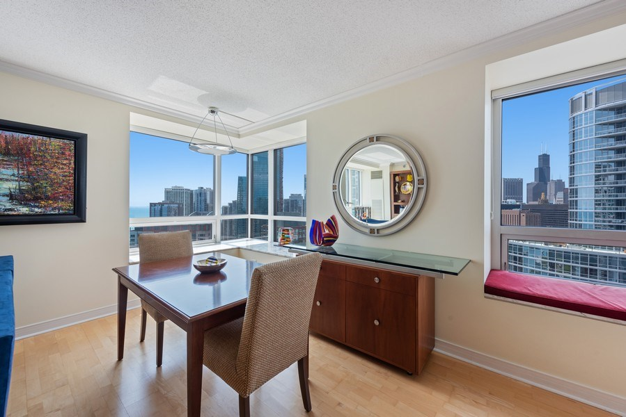 Real Estate Photography - 512 N MCclurg Ct, 3807-08, Chicago, IL, 60611 - Dining Area