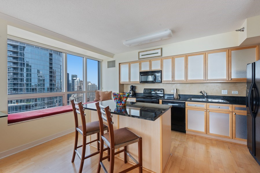 Real Estate Photography - 512 N MCclurg Ct, 3807-08, Chicago, IL, 60611 - Kitchen