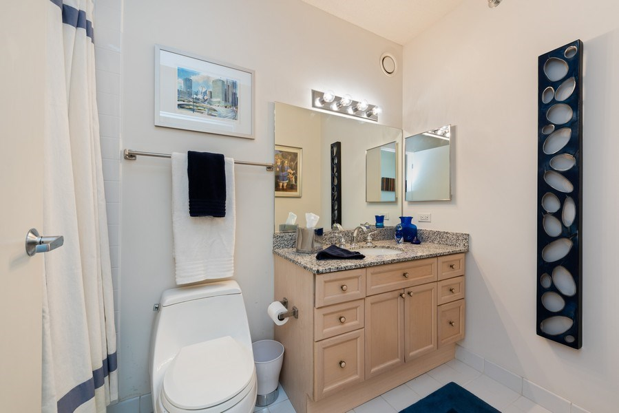 Real Estate Photography - 512 N MCclurg Ct, 3807-08, Chicago, IL, 60611 - 2nd Bathroom