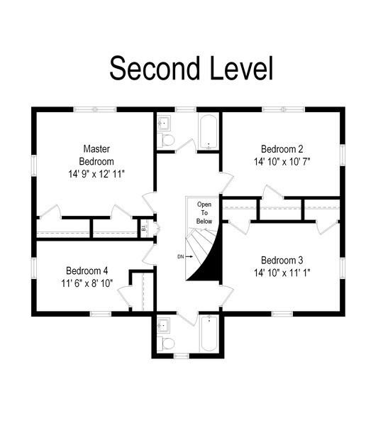 Real Estate Photography - 737 N Elmore, Park Ridge, IL, 60068 - Floor Plan