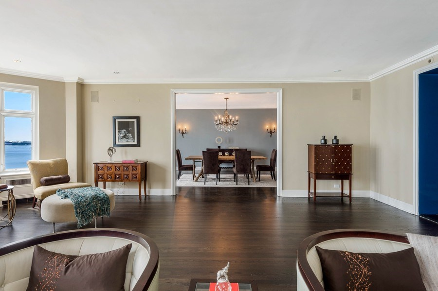 Real Estate Photography - 1430 N Lakeshore Dr, Apt 10, Chicago, IL, 60610 - Living Room / Dining Room