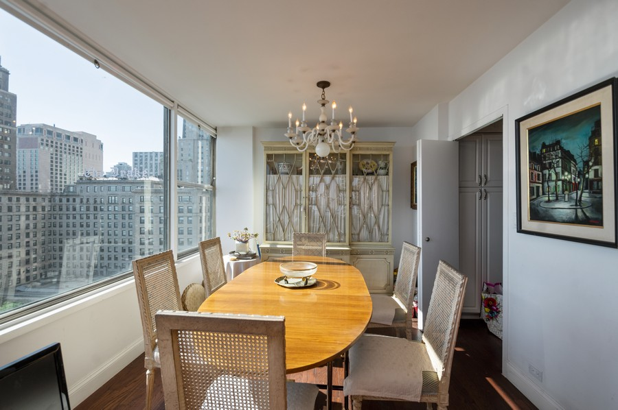 Real Estate Photography - 1000 Lake Shore Dr, Unit 1508, Chicago, IL, 60610 - Dining Area