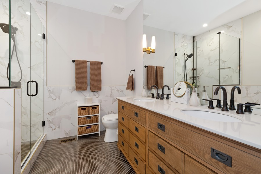 Real Estate Photography - 3243 N Kenneth Ave, Chicago, IL, 60641 - Master Bathroom