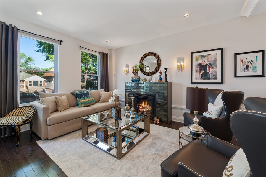 Real Estate Photography - 3243 N Kenneth Ave, Chicago, IL, 60641 - Living Room