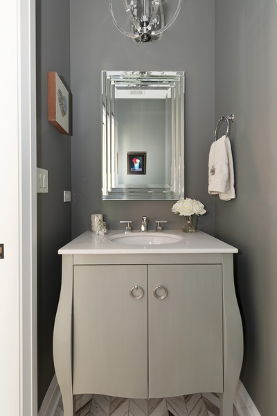 Real Estate Photography - 3243 N Kenneth Ave, Chicago, IL, 60641 - Powder Room