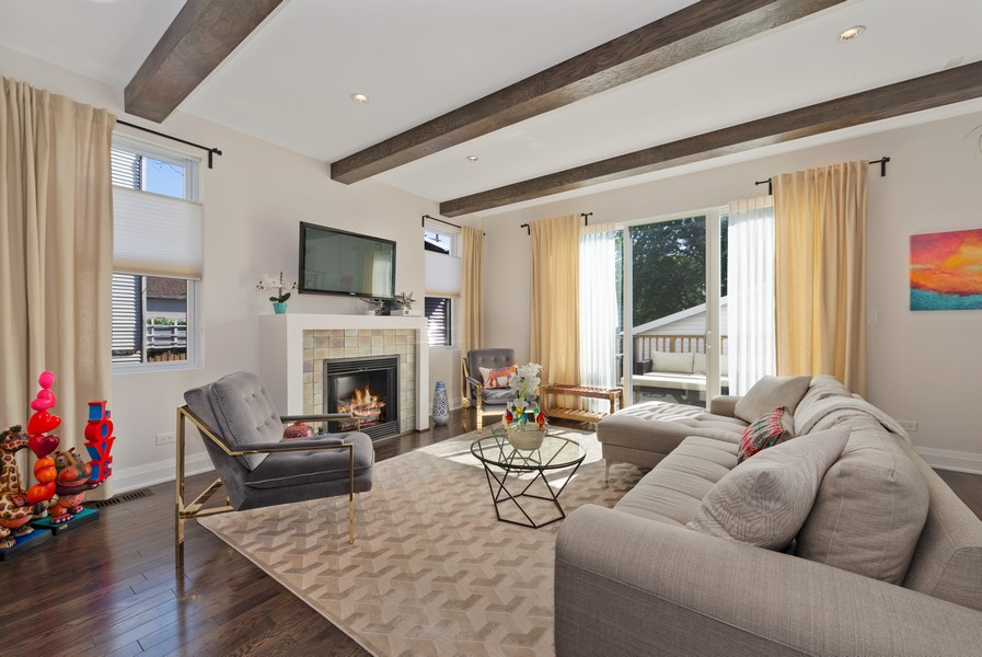 Real Estate Photography - 3243 N Kenneth Ave, Chicago, IL, 60641 - Family Room