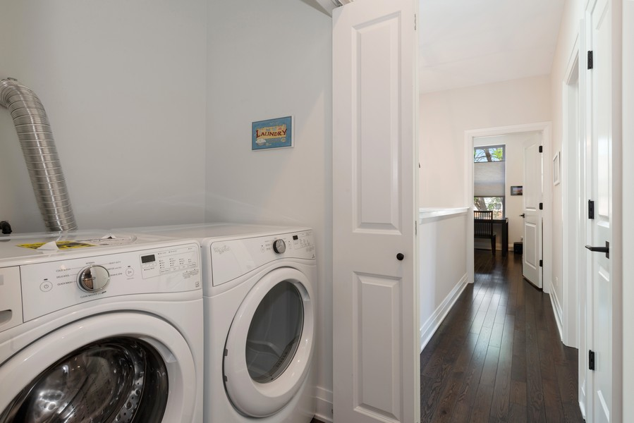 Real Estate Photography - 3243 N Kenneth Ave, Chicago, IL, 60641 - Laundry Room
