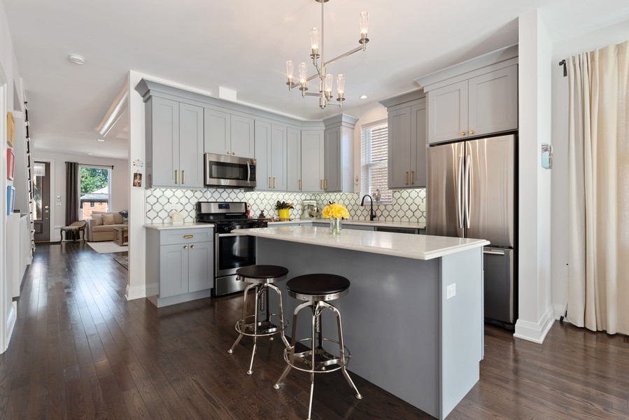 Real Estate Photography - 3243 N Kenneth Ave, Chicago, IL, 60641 - Kitchen