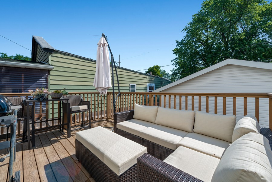 Real Estate Photography - 3243 N Kenneth Ave, Chicago, IL, 60641 - Deck