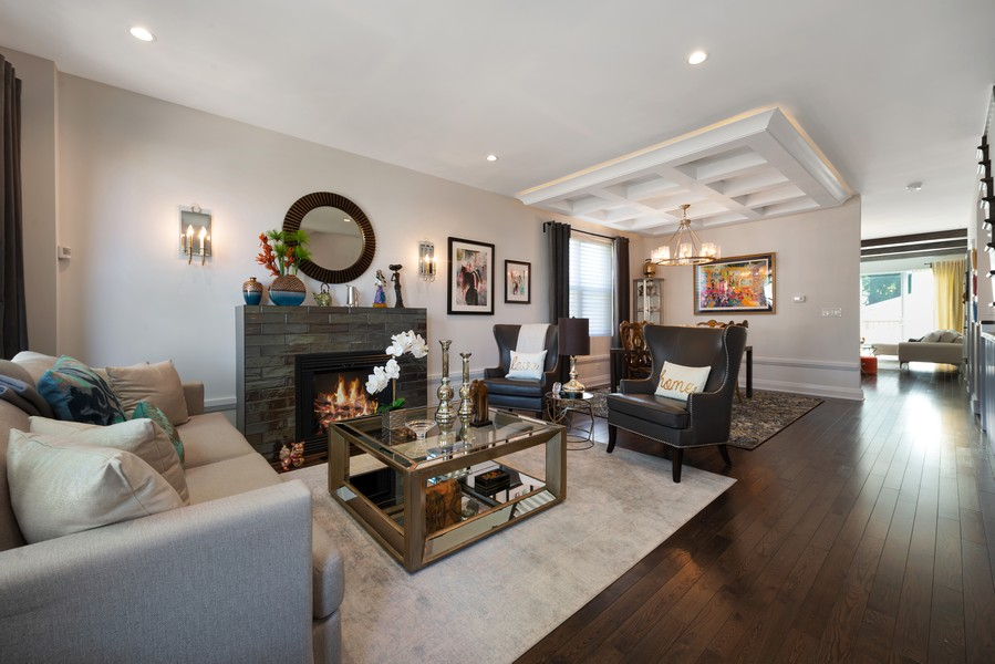 Real Estate Photography - 3243 N Kenneth Ave, Chicago, IL, 60641 - Living Room / Dining Room