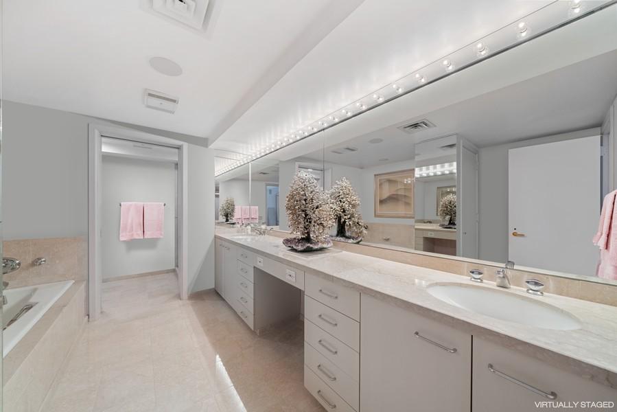 Real Estate Photography - 132 E Delaware Pl, Apt 5004, Chicago, IL, 60611 - Master Bathroom