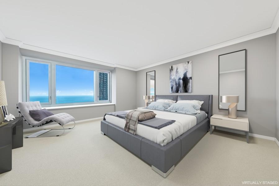 Real Estate Photography - 132 E Delaware Pl, Apt 5004, Chicago, IL, 60611 - Master Bedroom