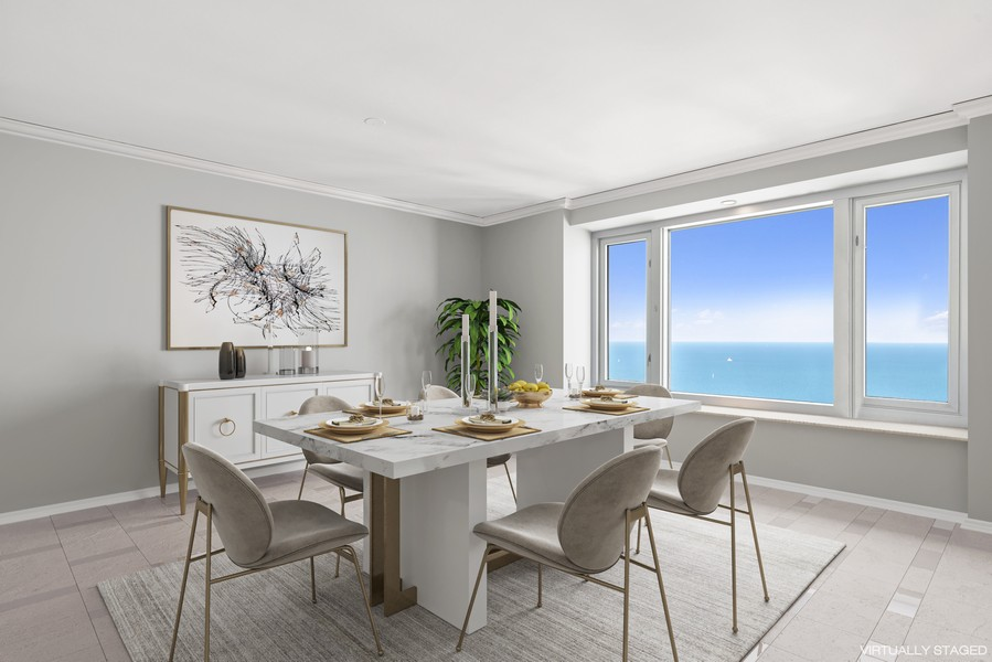 Real Estate Photography - 132 E Delaware Pl, Apt 5004, Chicago, IL, 60611 - Dining Room