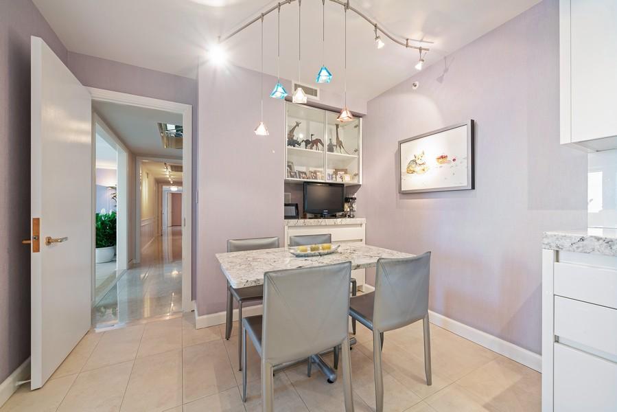 Real Estate Photography - 132 E Delaware Pl, Apt 5004, Chicago, IL, 60611 - Breakfast Room