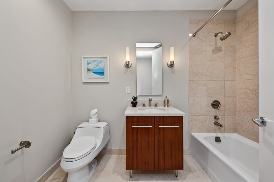 Real Estate Photography - 401 N Wabash Avenue, 83D, Chicago, IL, 60611 - 3rd Bathroom