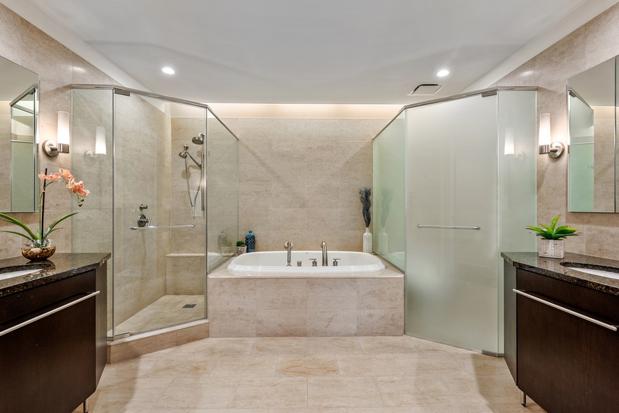 Real Estate Photography - 401 N Wabash Avenue, 83D, Chicago, IL, 60611 - Master Bathroom