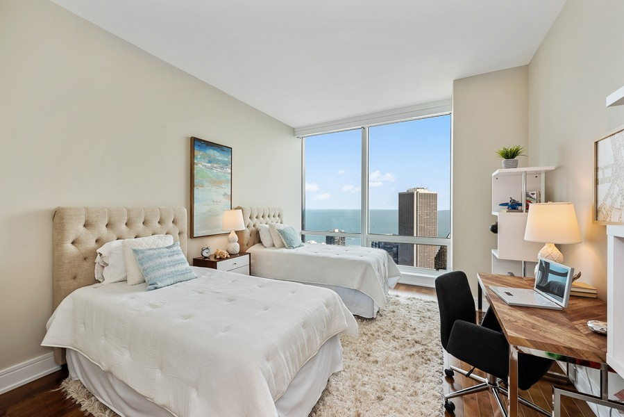 Real Estate Photography - 401 N Wabash Avenue, 83D, Chicago, IL, 60611 - 3rd Bedroom