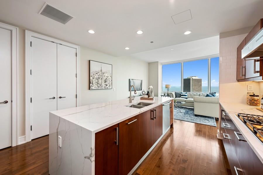 Real Estate Photography - 401 N Wabash Avenue, 83D, Chicago, IL, 60611 - Kitchen