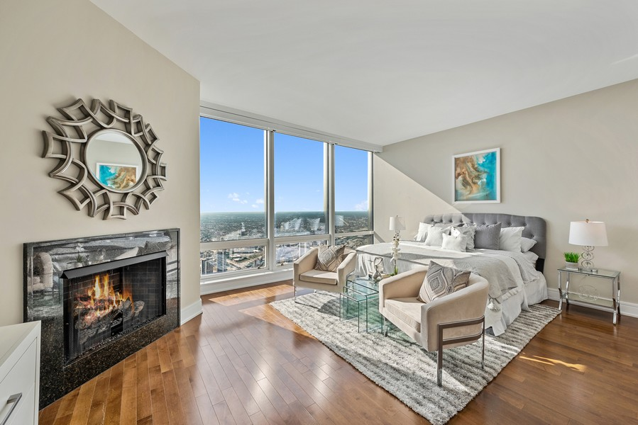 Real Estate Photography - 401 N Wabash Avenue, 83D, Chicago, IL, 60611 - Master Bedroom