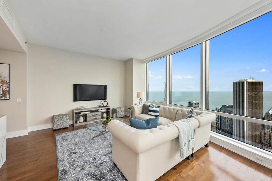 Real Estate Photography - 401 N Wabash Avenue, 83D, Chicago, IL, 60611 - Family Room