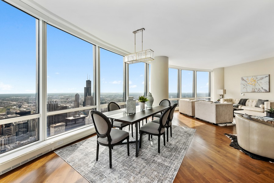 Real Estate Photography - 401 N Wabash Avenue, 83D, Chicago, IL, 60611 - Dining Room