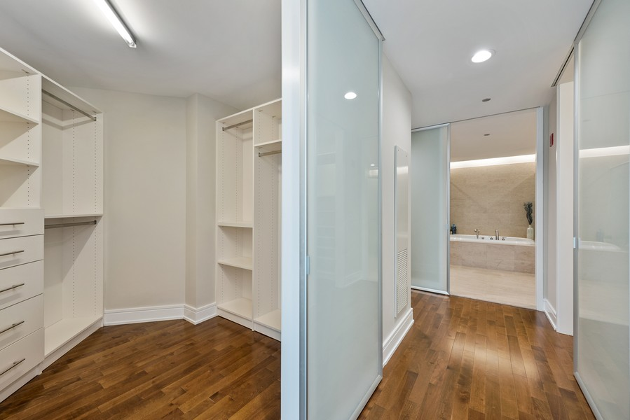 Real Estate Photography - 401 N Wabash Avenue, 83D, Chicago, IL, 60611 - Master Bedroom Closet
