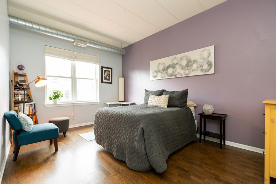 Real Estate Photography - 1155 W Madison #306, Chicago, IL, 60607 - Master Bedroom