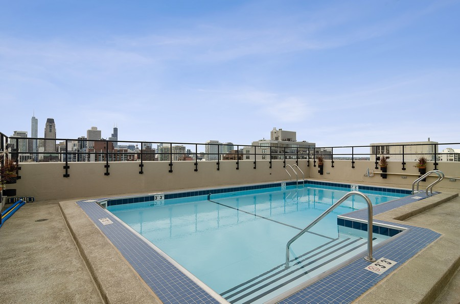 Real Estate Photography - 1515 N Astor, Unit 8BC, Chicago, IL, 60610 - Pool