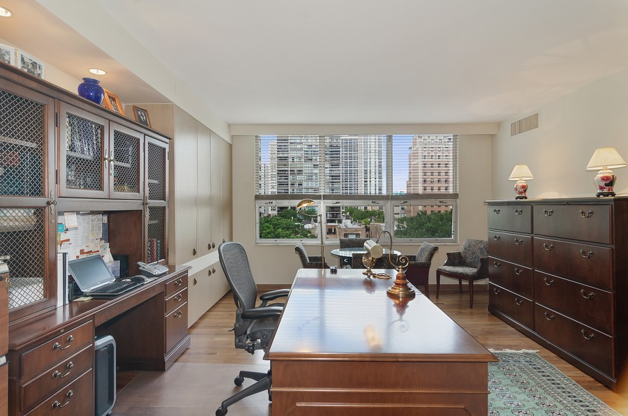 Real Estate Photography - 1515 N Astor, Unit 8BC, Chicago, IL, 60610 - Den