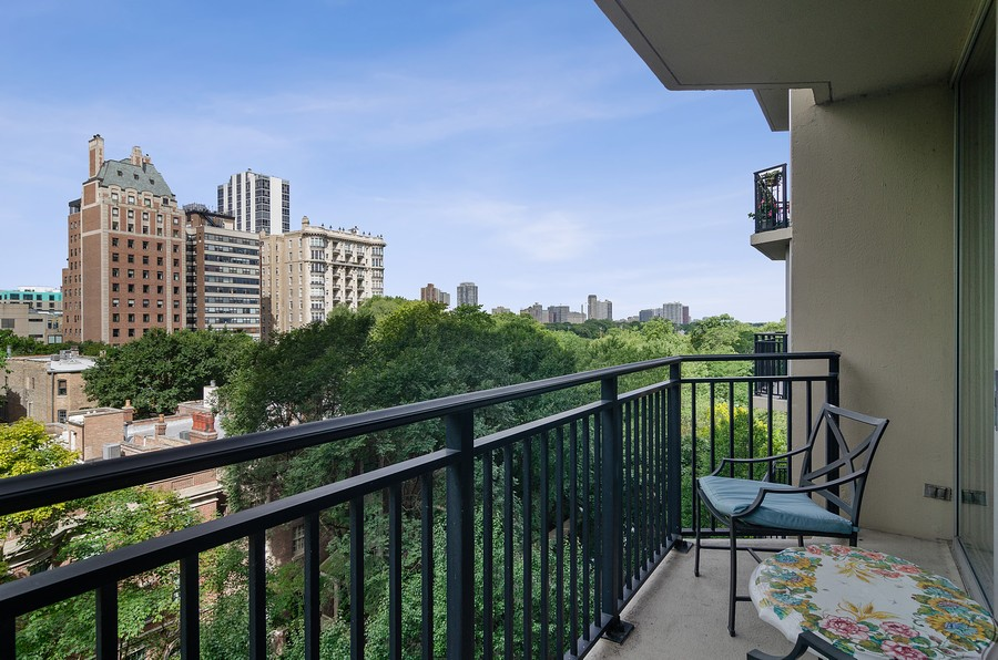 Real Estate Photography - 1515 N Astor, Unit 8BC, Chicago, IL, 60610 - Balcony