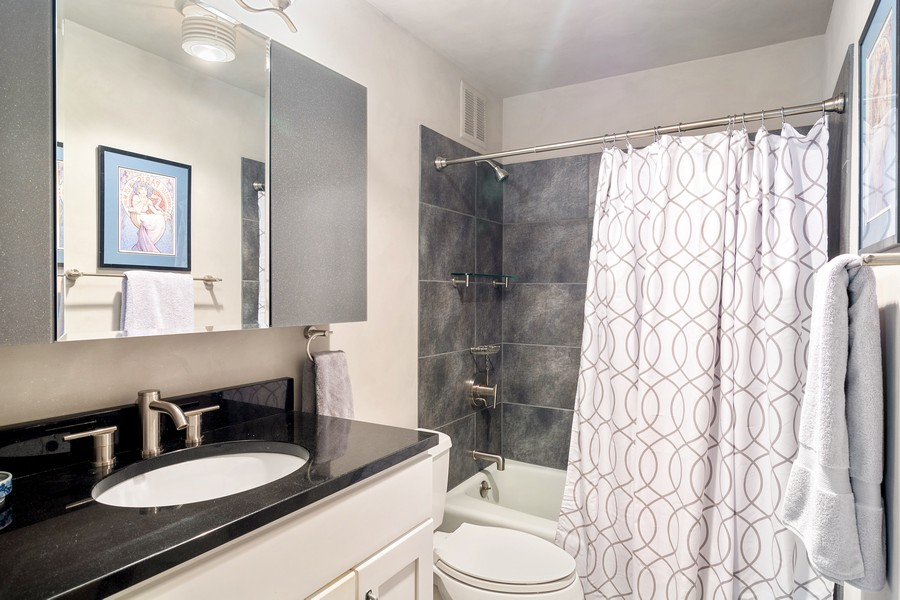 Real Estate Photography - 155 North Harbor Drive, Unit 3508, Chicago, IL, 60601 - Master Bathroom